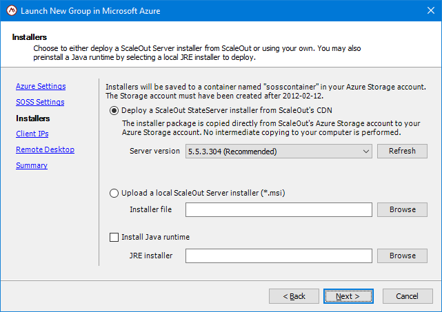 Deploying in Microsoft Azure